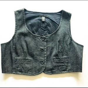 Laundry By Shelli Segal Denim Vest Size Large